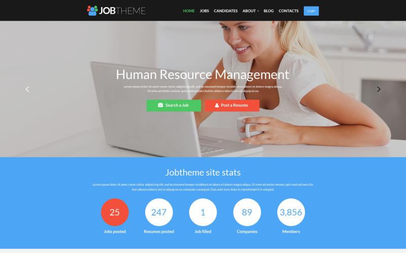 Thème WordPress réactif du portail d'emploi
