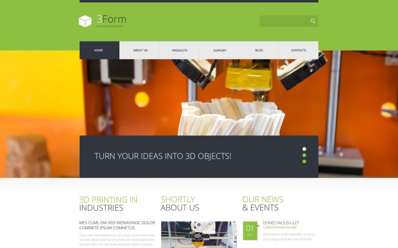 3D打印技术WordPress主题