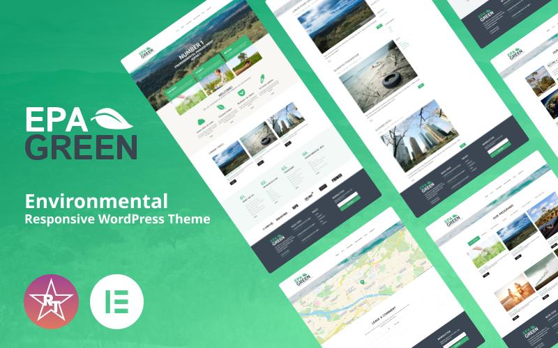 Экологическая адаптивная тема WordPress