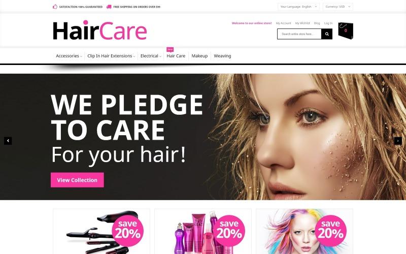 Hair Care Magento Theme