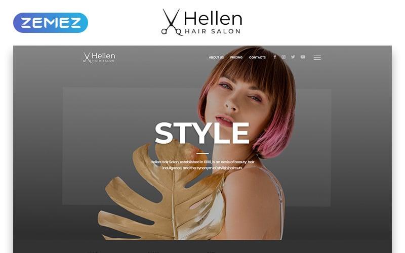 Hellen - классический многостраничный HTML5 шаблон веб-сайта парикмахерской