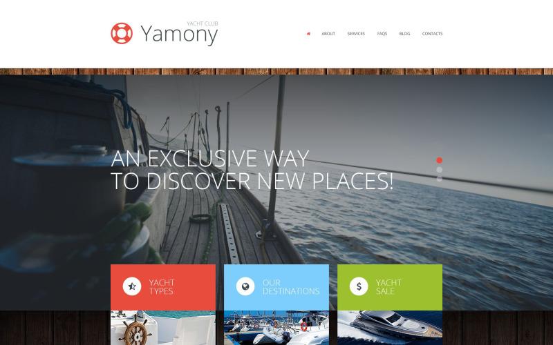 Тема WordPress для лодок