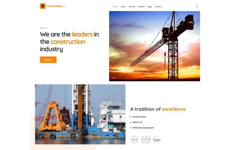 WordPress тема для будівельного бізнесу