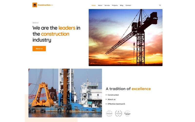 WordPress téma pro stavební podnikání