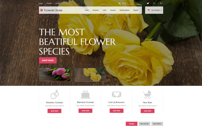 Květiny PrestaShop téma