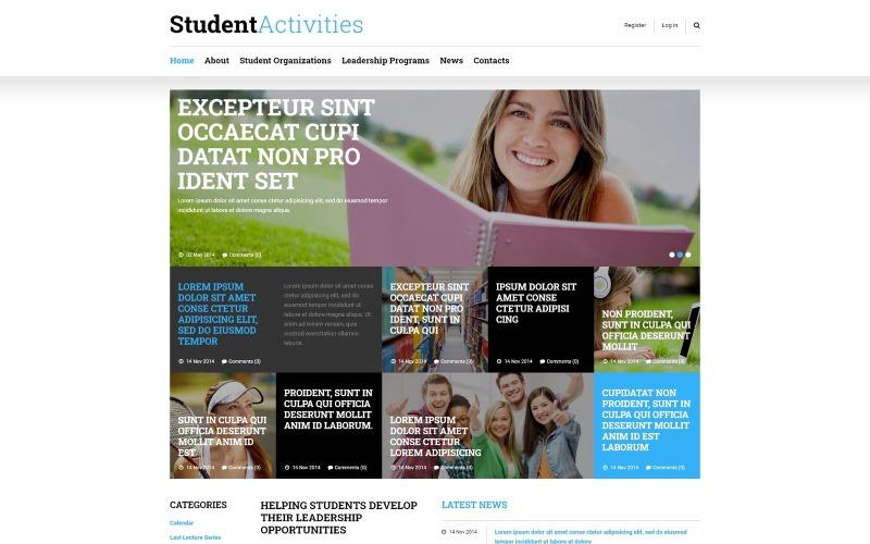 Plantilla Joomla adaptable a la educación