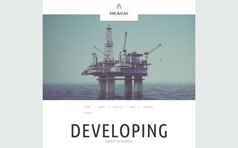 Тема WordPress для нефтегазовой компании
