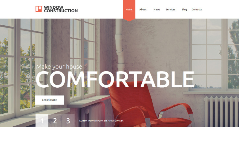 Window Construction Website Template