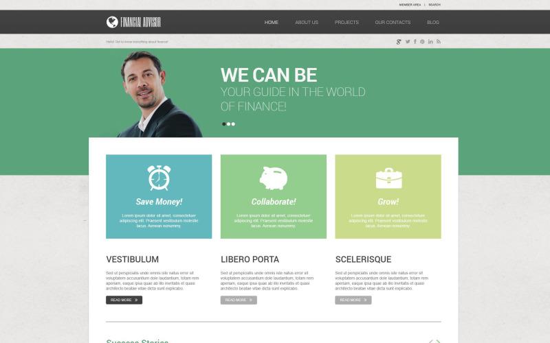 Адаптивная тема WordPress для финансового консультанта