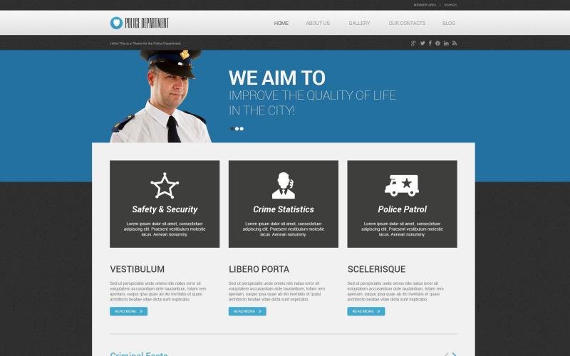 Адаптивная тема WordPress для полиции