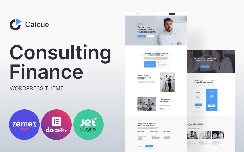 Calcue - Consulting Finance WordPress Theme