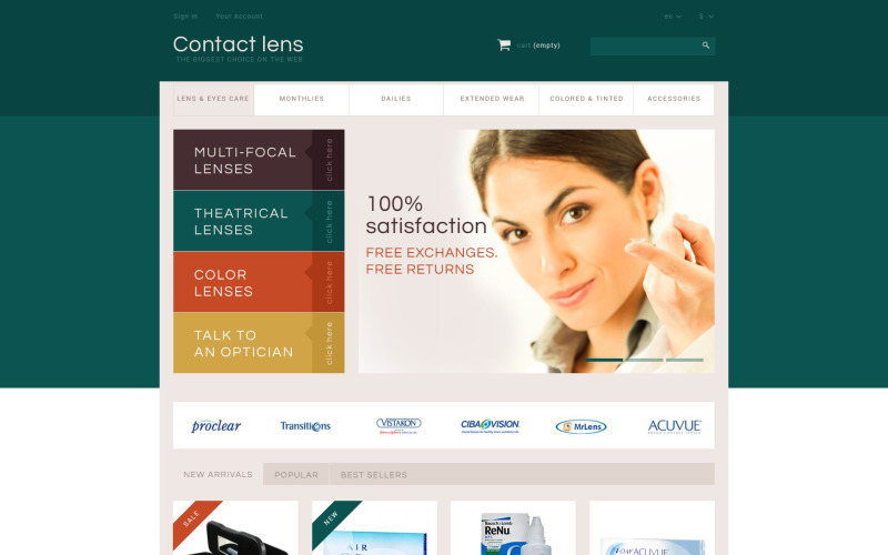 Kontakta Lens Store PrestaShop-tema