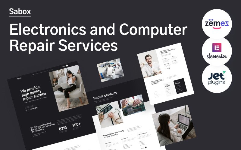 Sabox - Electronics and Computer Repair Services WordPress Theme