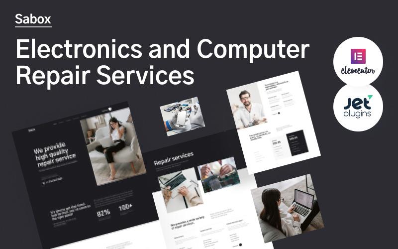 Sabox - тема WordPress о сервисах по ремонту электроники и компьютеров