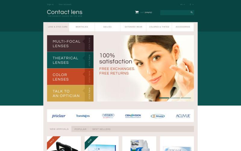 Tema PrestaShop di Contact Lens Store