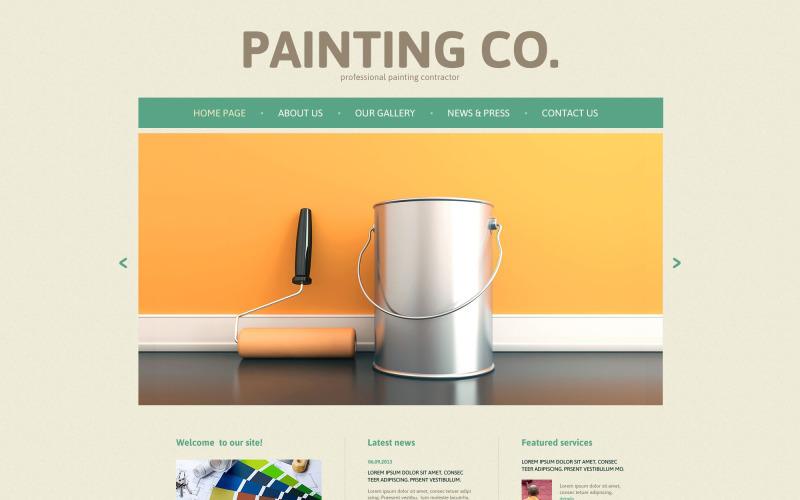 Modello di sito Web reattivo della società di verniciatura