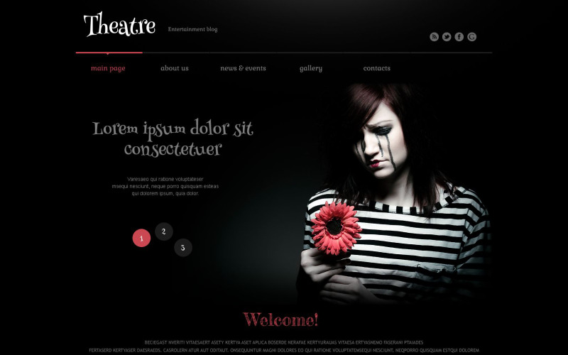 Адаптивная тема WordPress для театра