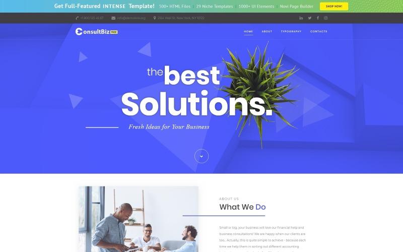 Бесплатный адаптивный корпоративный шаблон для веб-сайта