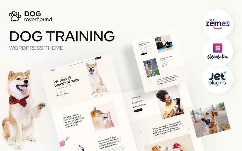 Dog Roverhound - Dog Training WordPress Theme