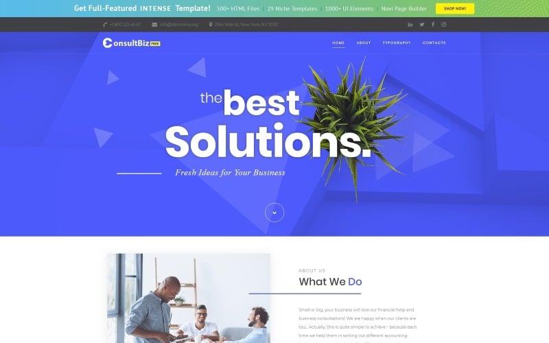 Gratis responsiv företagsmall Webbplatsmall