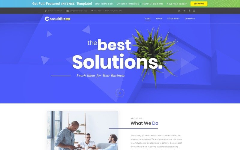 免费响应式企业模板网站模板