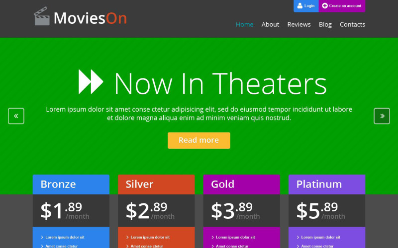 Movie Entertainment WordPress Theme
