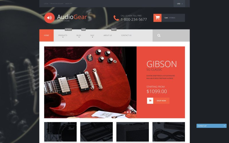 Musical Instruments Shopify Theme