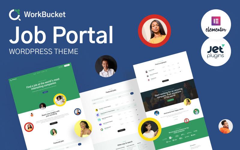 WorkBucket - Portal de empleo, tema de WordPress del directorio de contratación