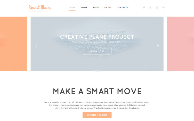 Адаптивная тема WordPress для веб-дизайна