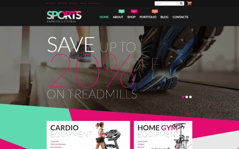 Fitness Equipment WooCommerce Theme