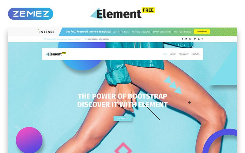 Modèle de site Web gratuit pour une agence de conception réactive