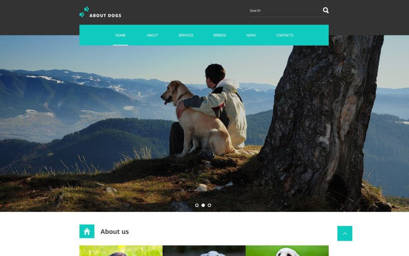 Template About Dogs Website Template