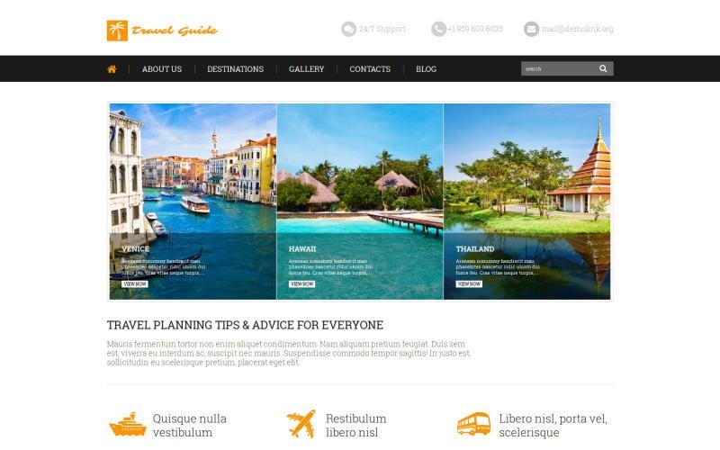 Travel Guide WordPress Theme