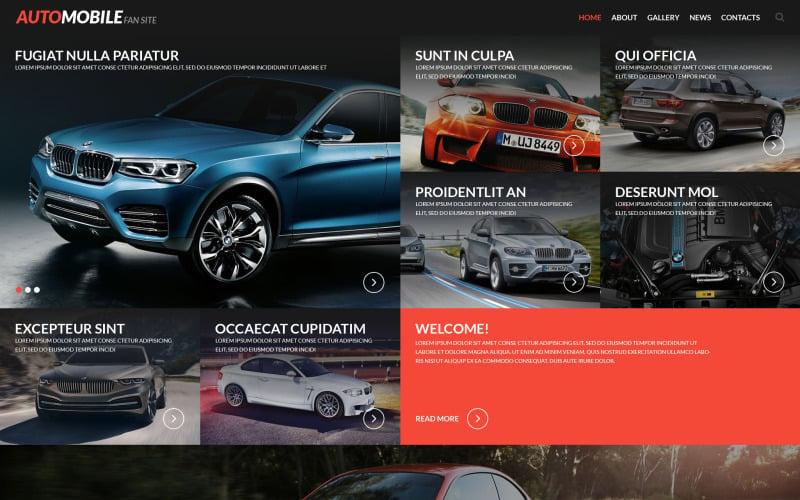 Automobile Fan Site Website Template