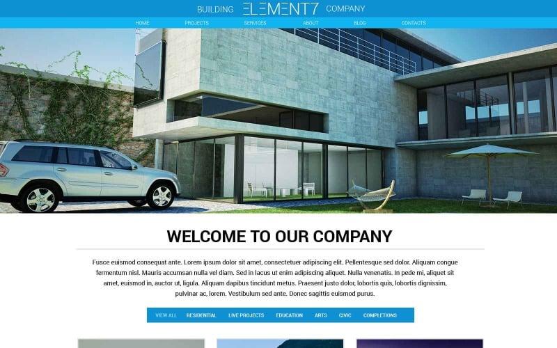 Building Business Website Template