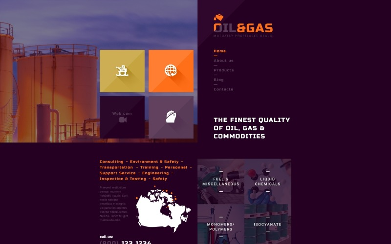 Gas and Oil Trading Joomla Template