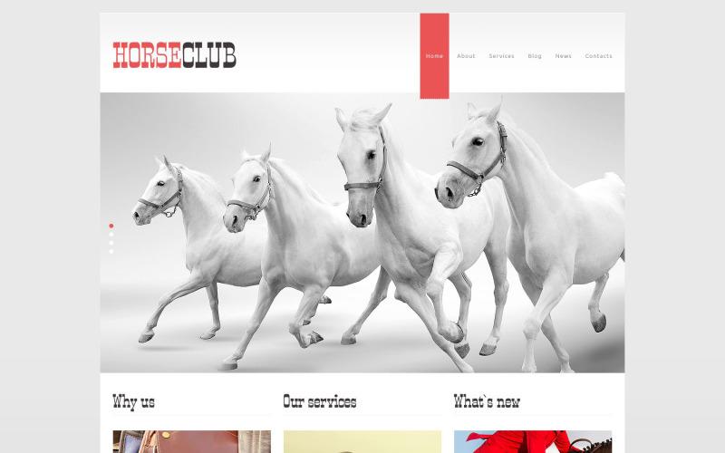 Horse Club WordPress téma
