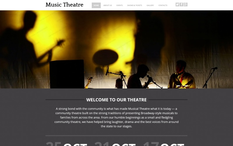 Music Theater Website Template