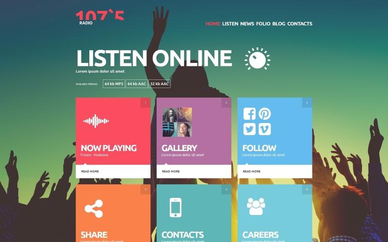 Plantilla Joomla de radio en línea