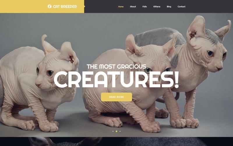 Plantilla para sitio web de criadores de gatos