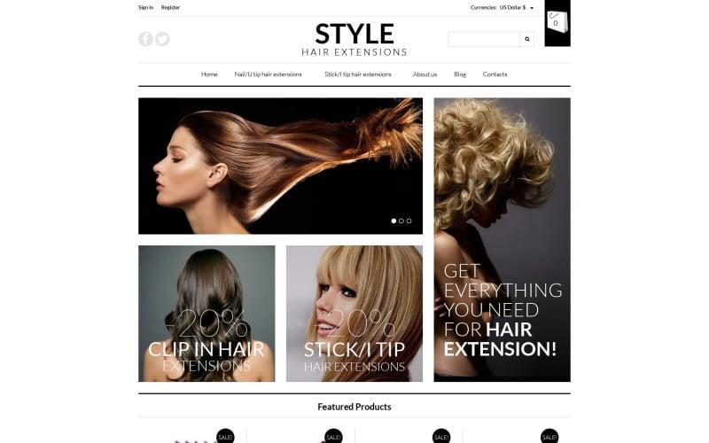 Pro Hair Extensions VirtueMart Template