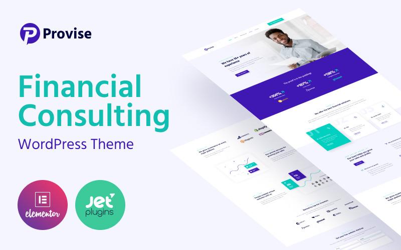 Provise - specjalny motyw WordPress dotyczący doradztwa finansowego