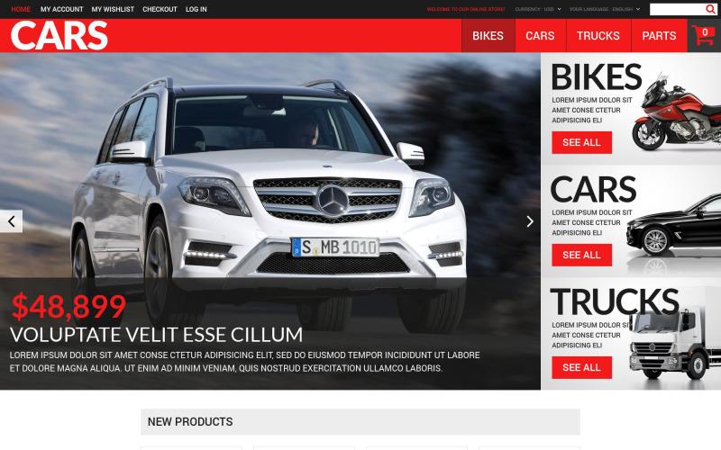 Sikeres Autókereskedők Magento téma