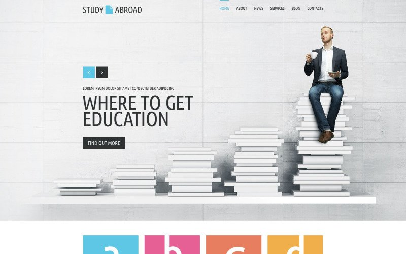 Study Abroad Website Template