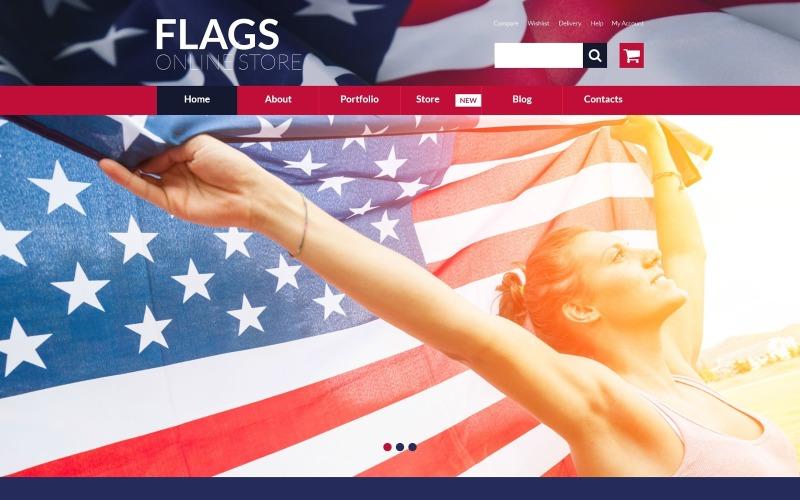 Tema WooCommerce de la tienda de banderas