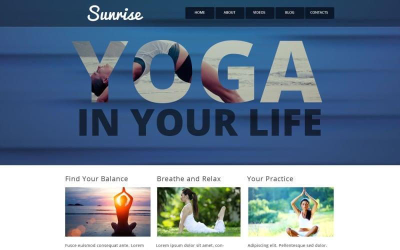 Yoga Style Website Template