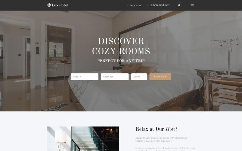 Lux Hotel - Многостраничный HTML5 шаблон веб-сайта отеля