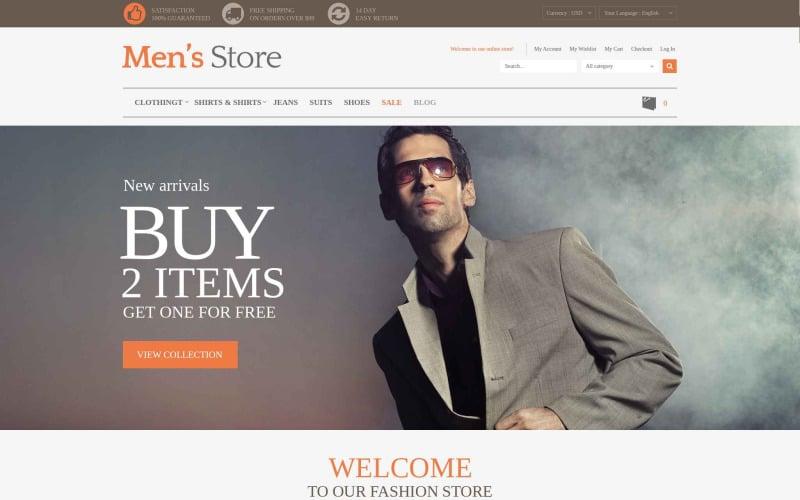 Mens Clothing Style Magento Theme