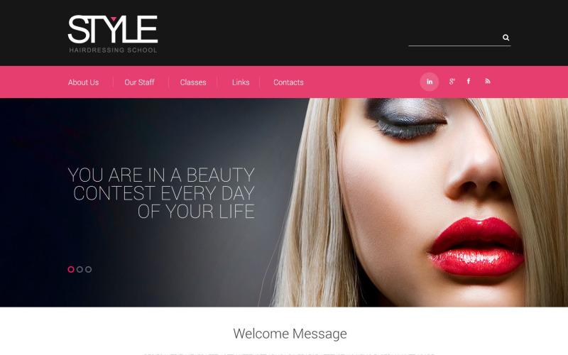 Modello di sito Web reattivo per parrucchiere