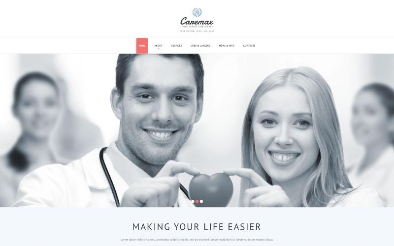 Otthoni egészségügyi szolgáltatások Joomla sablon